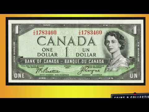 CHECK YOUR OLD 1954 CANADIAN BILLS FOR THE DEVIL FACE - CANADIAN BILLS WORTH MONEY