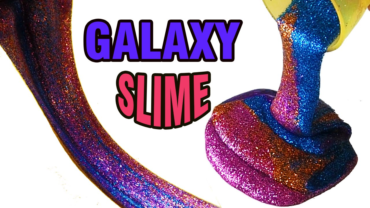 Diy Perfect Galaxy Slime Without Borax