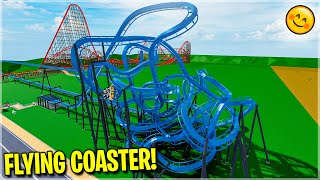 The New Flying Coaster Can Make Guests Fly 😇 (Theme Park Tycoon 2)