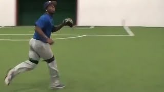 Baseball Drills | Outfield Footwork and Fly Ball