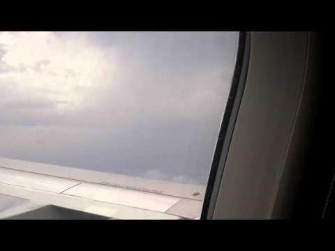 Landing in Minneapolis St. Paul in rainy weather