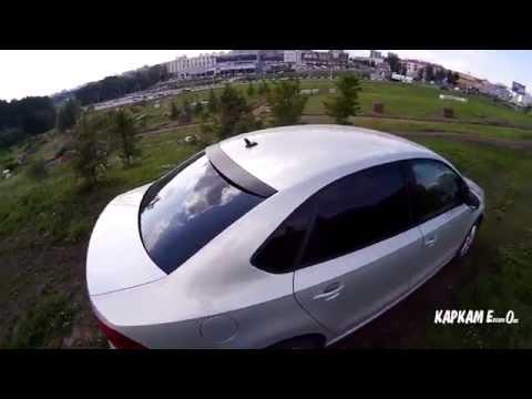 Козырек MV Tuning на заднее стекло VW Polo Sedan. Вид снаружи
