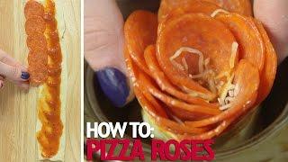 Pretty Cheese Pizza Roses Recipe