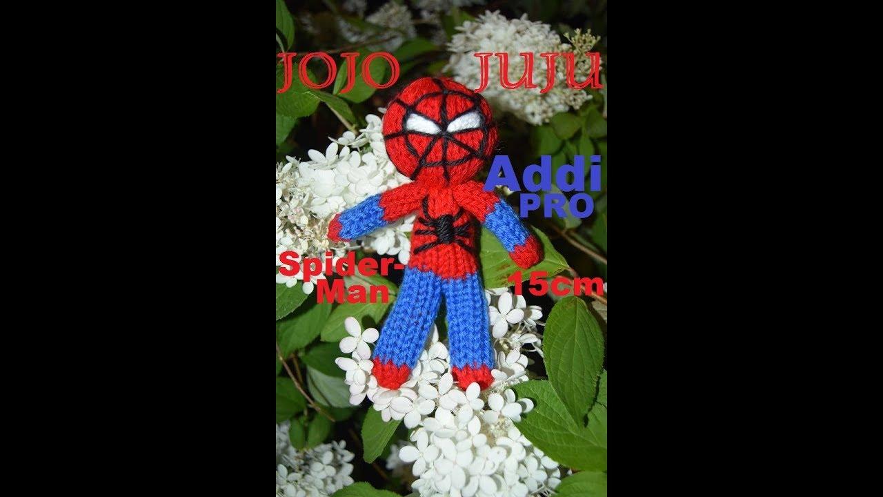 crochet spiderman toy - YouTube | 720x1280