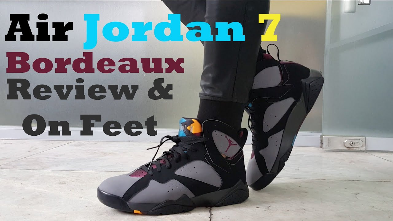 3143a9172ae6d4 Air Jordan 7  Bordeaux  2015 Review   On Feet - YouTube