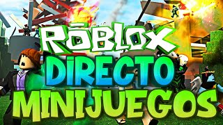 Roblox LIVE [Minigames and SWEEPSTAKES]