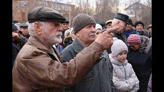 Стихийный митинг против превращения села Первомайское в свалку