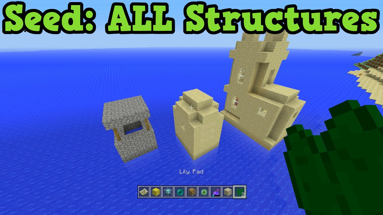 Minecraft Xbox 360 Ps3 All Structures On One Seed Minecraft Minecraft Creations Xbox