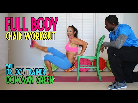 Full body workout using a chair! With Dr. Oz's Trainer Donovan Green | Natalie Jill