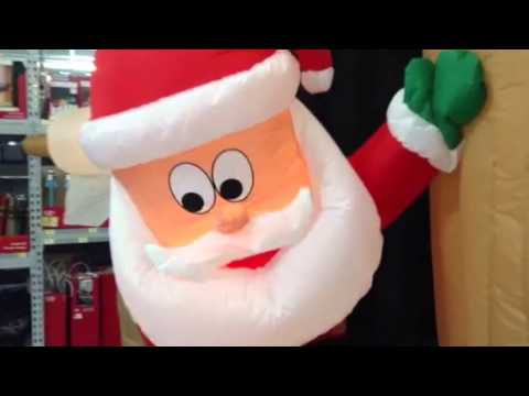 Walmart Christmas 2014: Outhouse Santa Inflatable - YouTube