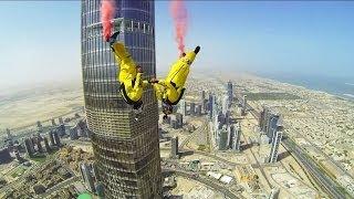 Video 4K - Jumping from Burj Khalifa