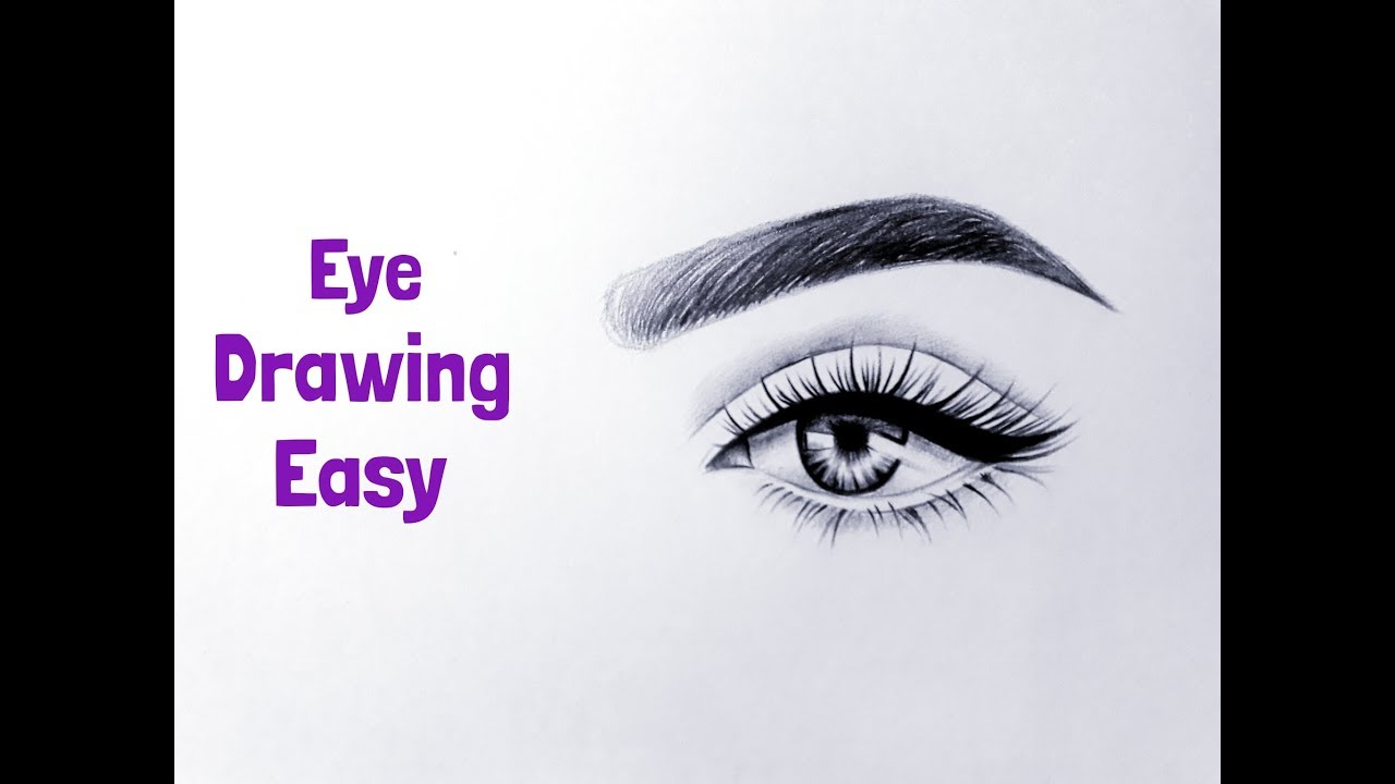 How To Draw An Eyeeyes Easy Eye Drawing Easy With Pencil Step By Step Tutorial For Beginners