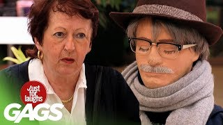 Clever Old Man Pranks Wife With Dummy