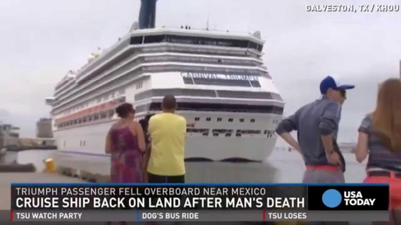 Man Falls Overboard On Carnival Cruise Ship YouTube - Galveston cruises 2015