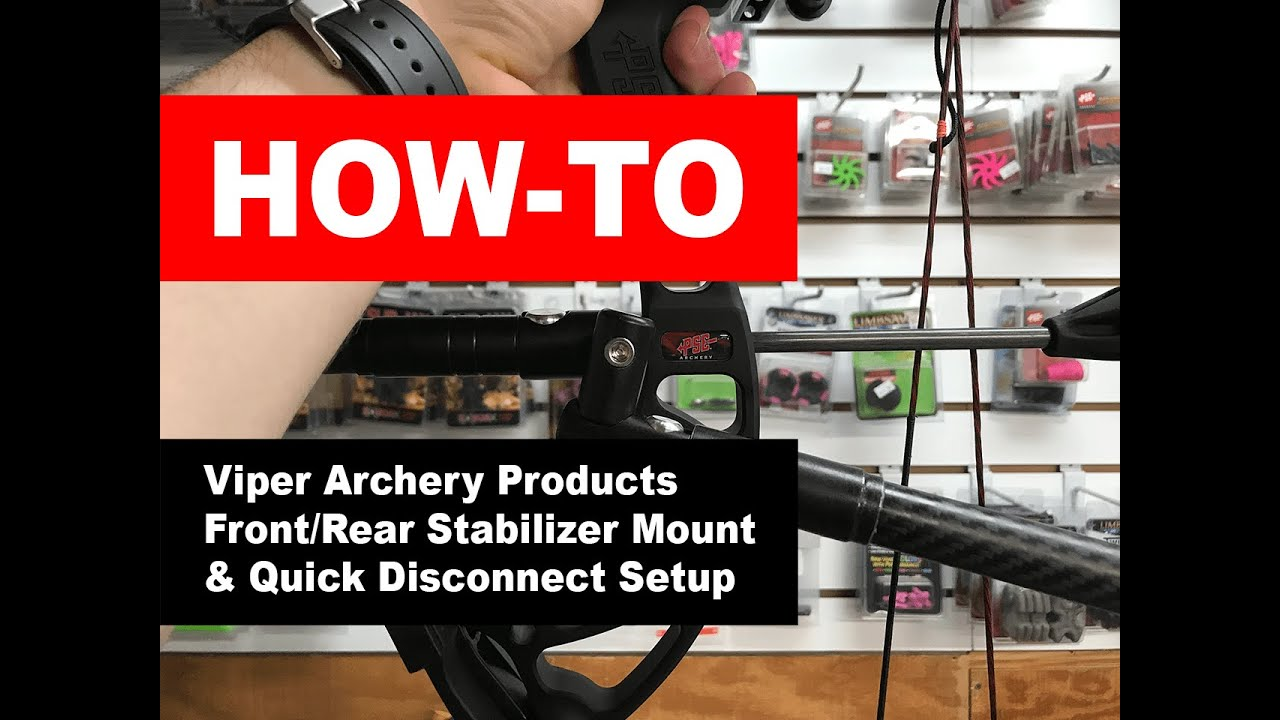 New Viper Archery Products Straight Stabilizer Quick Disconnect