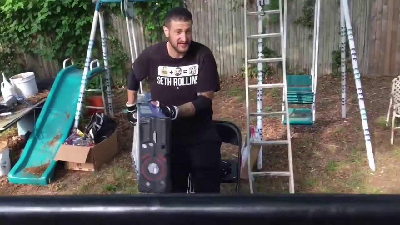 gts championship tlc ladder match proffesnal backyard wrestling