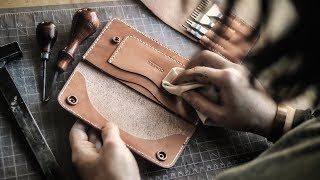 Making Her FIRST Leather Long Wallet!!!