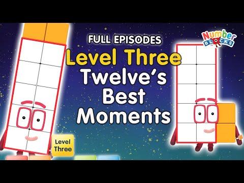 #BacktoSchool - Numberblocks Level Three | All the Best Twelve Moments | FULL EPISODES