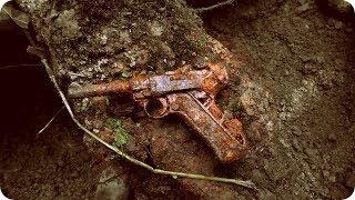 ML72 Раскопки немецкого блиндажа WW2 German bunker excavations HD SUB