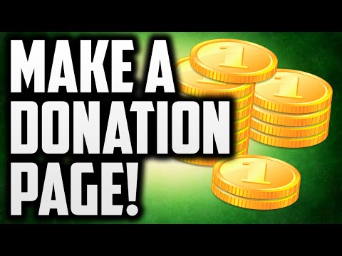 How To Make A Fan Funding Donation Page!