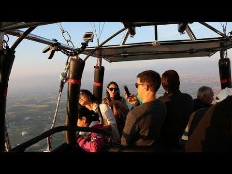 Pamukkale'de balonla manzara keyfi