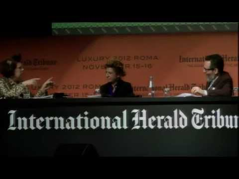 Handmade in Africa: Simone Cipriani & Ilaria Venturini Fendi at IHT Luxury Conference, Rome, 2012