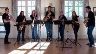 Paddy's Green Shamrock Shore – saxophone ensemble (septet)