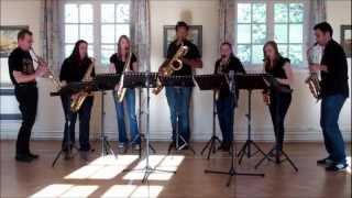Paddy's Green Shamrock Shore – saxophone ensemble (septet)