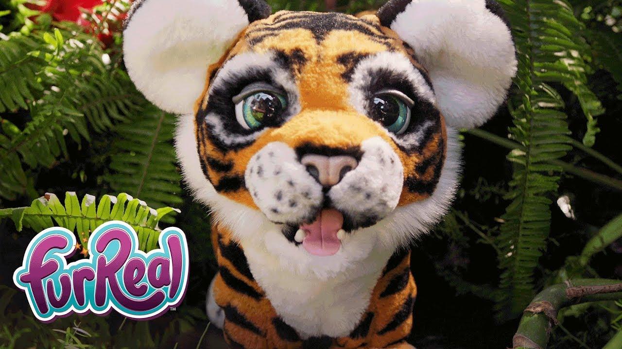 Furreal friends baby snow leopard flurry review robotic dog toys - Furreal Friends Espa A Tyler Mi Tigre Juguet N