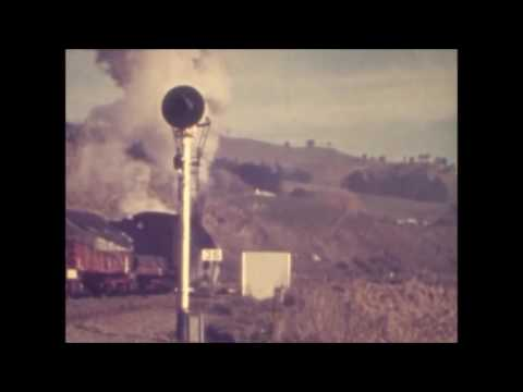 NZ Railways, Taihape, views of the town and loco depot 1966