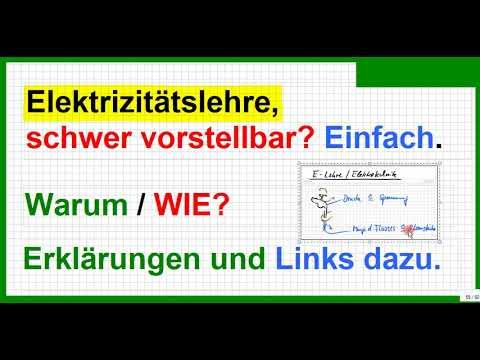 Elektrizitätslehre (E-Lehre), Strom, Spannung, Schaltzeichen ...