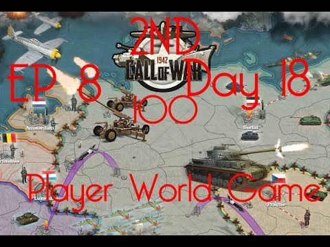 Call of War 1942 2ND 100 Player Fan Game, Day 18 EP8