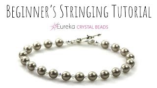 Learn to string beads - the right way!