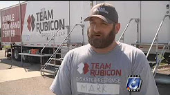 Team Rubicon at Aransas Pass Civic Center weeks after Harvey