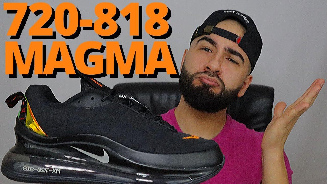 Nike Air Max 720 818 Black Magma Orange On Foot Review Youtube