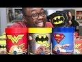 DC SUPER HERO ICE CREAM TASTE TEST - First Time!! (Black Nerd)
