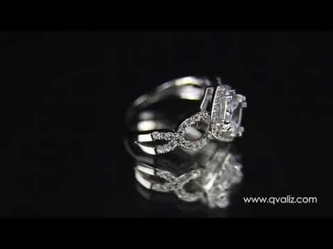Серебряное кольцо с квадратным камнем - K00193