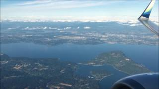 Flying to Alaska. Seattle to Anchorage on Alaska Airlines.
