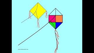 Desenho #09 Como desenhar Pipa e Papagaio que voa