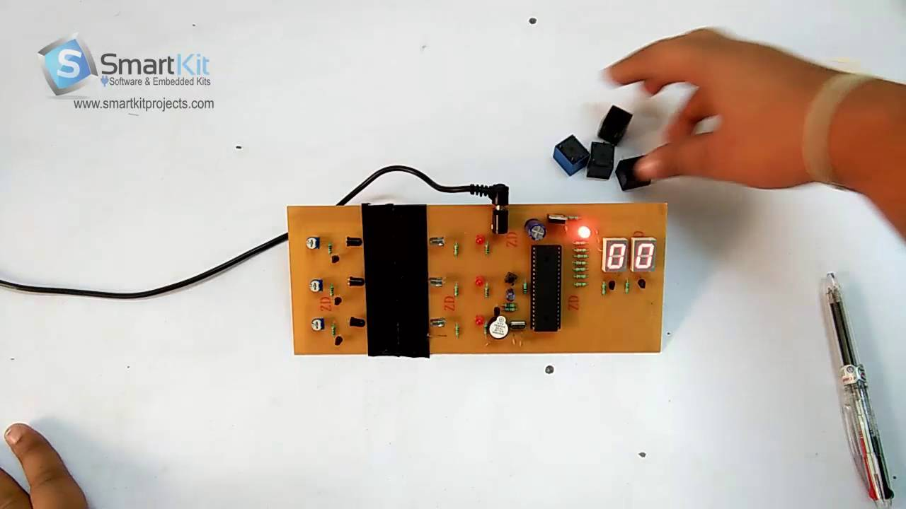 Object Counter Using 8051 Based Microcontroller Youtube Digital Clock Lcd Display Mini Project Smart Kit Projects
