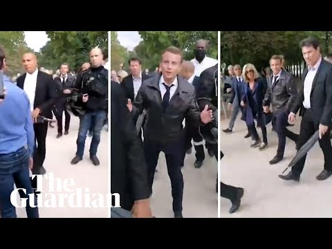 'Be Cool': Emmanuel Macron Accosted By Protesters During Walk In Paris Park