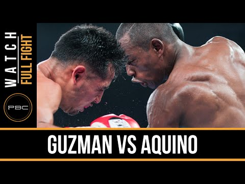 Guzman vs Aquino FULL FIGHT: Oct. 10, 2015 - PBC on NBCSN