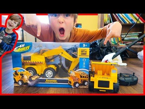 RC Excavator and Dump truck