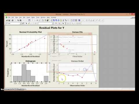 regresi n lineal simple en minitab youtube