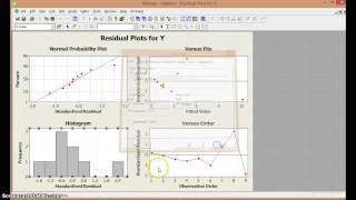 Regresión lineal simple en Minitab