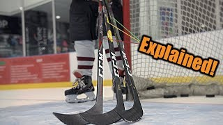 What is the difference between CCM Ribcor Trigger 3D, Super Tacks AS1 & JetSpeed Hockey Sticks