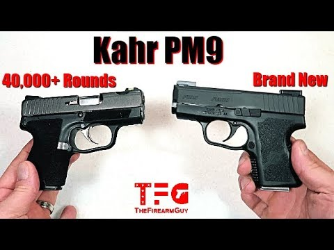 Kahr PM9 with over 40,000 rds vs a New Kahr PM9 - TheFireArmGuy