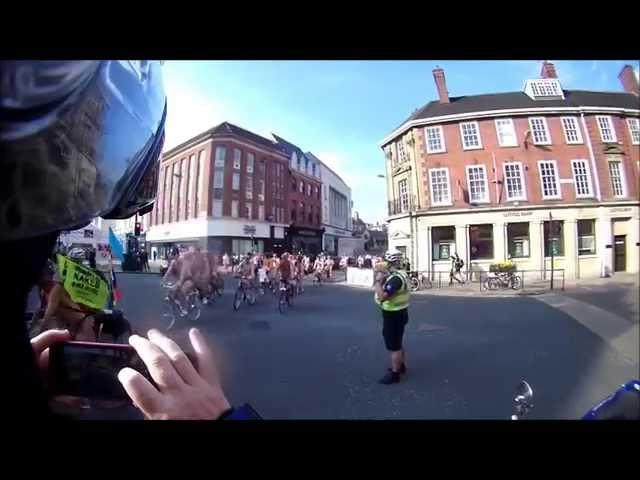 Naked Bike Ride 2014 York UK