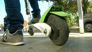 video: E-scooter rider, 55, in critical condition with head injury after crashing without helmet