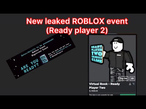 new leaked roblox event ready player 2 youtube youtube